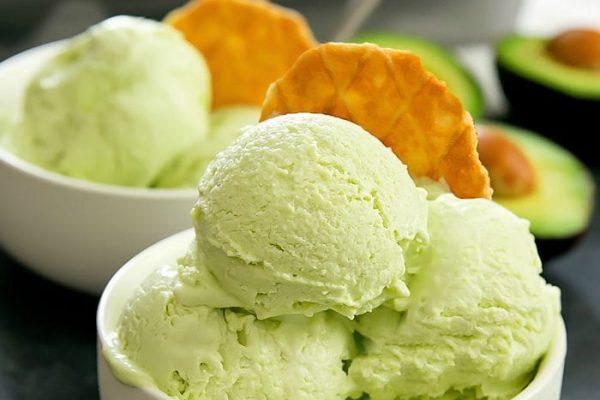 Avocado ice cream