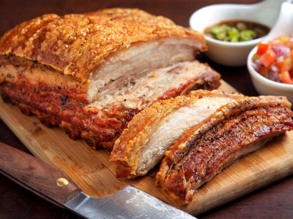 Roasted crispy pork.