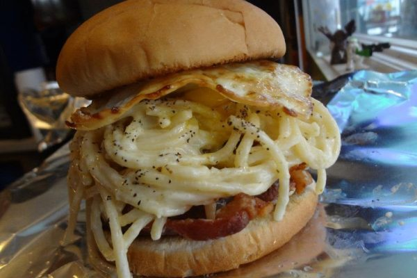 Fried Carbonara Sandwich